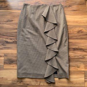 Antonio Milani patterned ruffle pencil Skirt 4